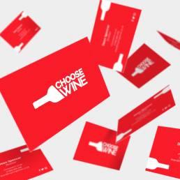 Choose Wine Business Card Designs